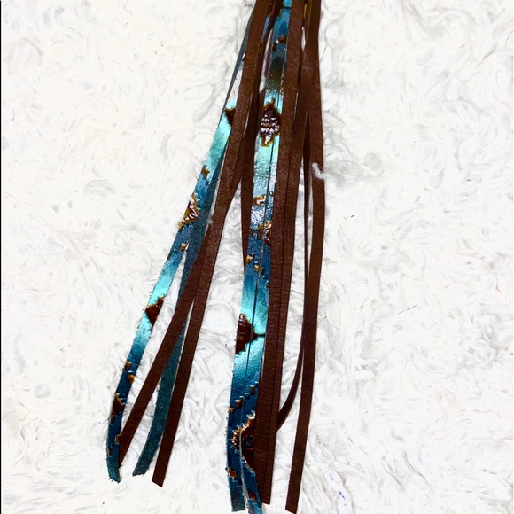Navajo Accents Gen leather Clip-On Tassel for Bags